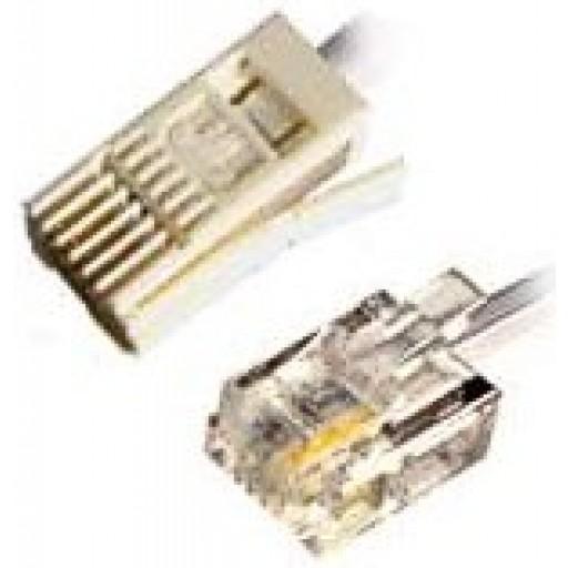 Modem Cable RJ11 to BT Plug 2 Wire - 3 Metre