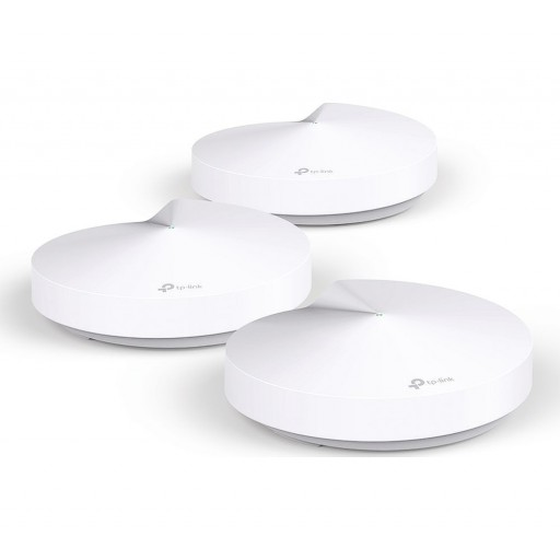 TP-Link DECO M5 Whole Home Mesh Wi-Fi System, 3 Pack, Dual Band AC1300, USB Type-C, 2 x LAN on Each Unit