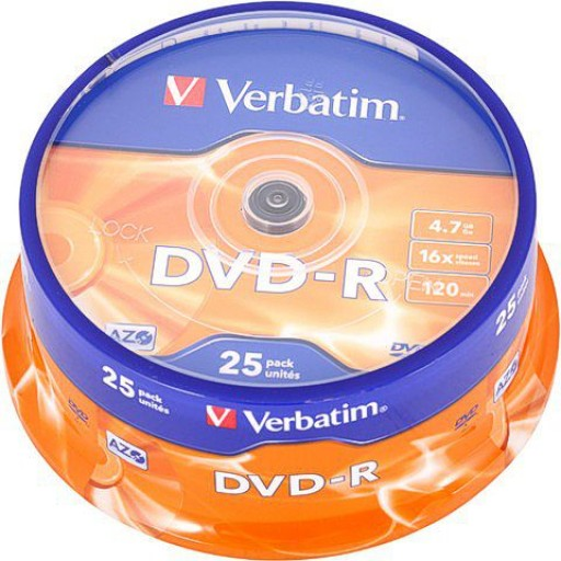 Verbatim 43522 Premium AZO Branded 16x Speed DVD-R - 25 TUB