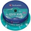 Verbatim 43639 DVD-RW (Re-Writable) Branded 4.7GB Storage Media - 25 TUB