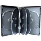 10 WAY DVD Storage Cases in Black - 50 BOX
