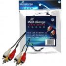 MediaRange MRCS123 3 Male RCA Phono to 3 Male RCA Phono Clinch Cable - 3m