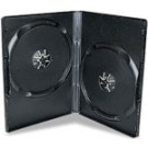 DOUBLE Black Standard 14mm DVD Storage Cases - 100 BOX