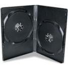 DOUBLE Black Standard 14mm DVD Storage Cases - 10 BOX