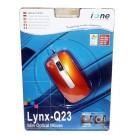 Ione Lynx Q23 Camel Gold (Orange) PS2/USB 3 Button Optical Minimouse - Retail