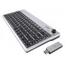Ione Scorpius P20 Wireless USB Slim Silver/Black Media Centre 2.4GHz Joystick Keyboard - Retail