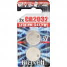Maxell CR2032 3V Lithium Coin Battery Pack - 2 PACK