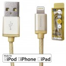 Sumvision Apple Lightning to USB Cable, Nylon Braided, Gold Plated, 1 Metre - MFI Cert.