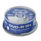 Traxdata RITEK WHITE FULL FACE PRINTABLE 16x Speed 4.7GB DVD-R - 25 TUB