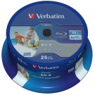 Verbatim 43811 Blu-ray Datalife BD-R 6x Inkjet Printable 25GB in 25 TUB