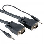 10.0M SVGA & Audio Combination Extension Cable, 15pin, 3.5mm male
