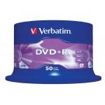 Verbatim 43550 Branded 16x Speed 4.7GB DVD+R in 50 TUB