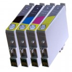 Epson D68, D88, DX3800, DX4200, DX4800 etc. SET - 4 Cartridges 611-614 - Epson Compatible