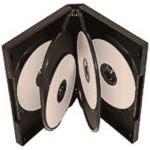 6 WAY DVD Storage Cases (Black) - 5 BOX