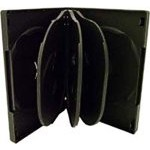 8 WAY DVD Storage Cases (Black) - 5 BOX