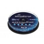 MediaRange MR507 (Blu-ray) BD-R 50GB 6x Speed Single Sided Disc (10 TUB)