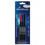 MediaRange MR701 CD/DVD/BluRay Permanent 3 Pen Marker Set (blue/red/Black)