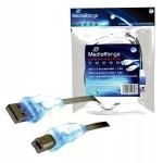 MediaRange MRCS109 USB2.0 Printer Cable 1.8m with BLUE LED's - Retail