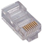 PromoValue RJ45 Cat5 Unshielded Cable Connector in 10 PACK