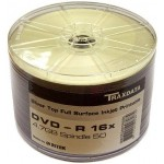 Traxdata 16x Silver Full Face Printable DVD-R - 50 PACK