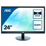 AOC M2470SWH 24inch Full HD Monitor 1920x1080, 5ms, VGA, 2 x HDMI, Speaker