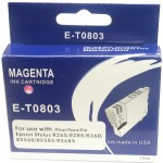 Epson NEW BLUE BOXED E-T0803-V.4 Compatible Ink Cartridge (MAGENTA) - R265, R285, R360, RX's etc.