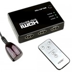 Dynamode/LMS DATA 3 PORT HDMI Switch Box with Remote Control