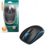 Compoint Wireless Optical 2.4Ghz Office & Gaming Mouse 1600 DPI - Black & Blue