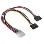 Molex to 2x Serial ATA Power Supply Cable