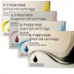 Epson T-1631-1634 - 4 Cartridge Compatible Ink Set for WorkForce WF-2010W, 2510WF etc -T1636