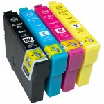 Compatible Epson 502XL - 4 Colour CMYK High Capacity Ink Cartridge MULTIPACK SET - (C13T02W64010) Binocular
