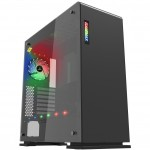 Game Max Vega Black RGB Full Tower Gaming Case with Tempered Glass Window