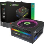 Game Max 850 Watt 80 PLUS Gold Fully Modular RGB LED PSU / Power Supply