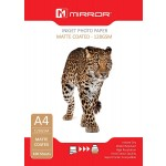 Mirror Pro Matte White Single Sided Photo Inkjet Paper A4 128gsm - 100 SHEETS