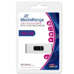 MediaRange 256GB USB3.0 Superspeed Capless Flash Drive with Slide Mechanism - MR919