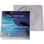 MediaRange MRBOX65 Paper CD/DVD Sleeves with Window and Flap - 50 RETAIL PACK