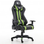 Neo High Back Racing Gaming Chair Black / Green with Arm Rests