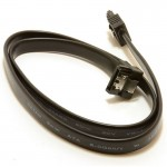 Digitalpromo SATA 3 Cable 6Gbps Locking Plug to Right Angle High Speed - 50cm - Black