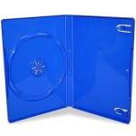 Single BLUE Standard DVD 14mm Storage Cases - 10 BOX