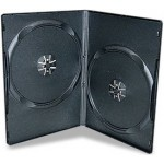 SUPER SLIMLINE 7mm DOUBLE BLACK DVD Storage Cases - 100 BOX