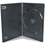 SUPER SLIMLINE 7mm Single BLACK DVD Storage Cases - 100 BOX