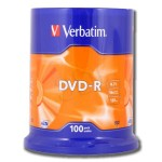 Verbatim 43549 Premium AZO Branded  16x Speed DVD-R - 100 TUB