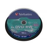 Verbatim 43552 4x DVD-RW 10 Pack Spindle - Verbatim