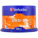 Verbatim 43548 Premium AZO Branded 16x Speed DVD-R - 50 TUB