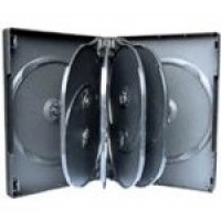 10 WAY DVD Storage Cases (Black) - 4 BOX