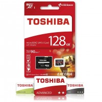 Toshiba Exceria 128GB M302 4K and Full HD 90MBPS Micro SD With Adapter