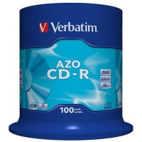 Verbatim 43430 AZO Crystal 52x Speed 80min CD-R - 100 TUB