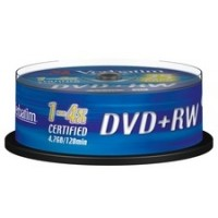 Verbatim 43489 (PLUS+RW - Re-Writable) 4x Speed 4.7GB DVD+RW (25 TUB)