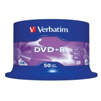 Verbatim 43550 Branded 16x Speed 4.7GB DVD+R in 50 TUB