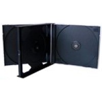 QUAD (4 Way) CD/DVD Jewel Case (BLACK INSERT) - 10 BOX